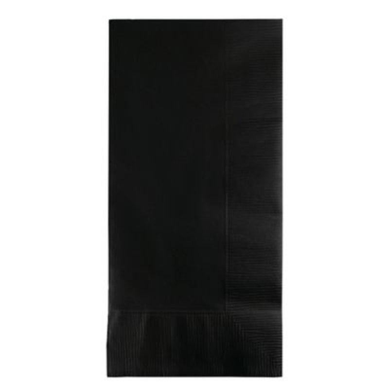 Touch of Color 2-Ply Black Velvet Dinner Napkins