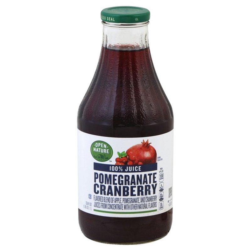 Open Nature 100% Pomegranate Cranberry Juice