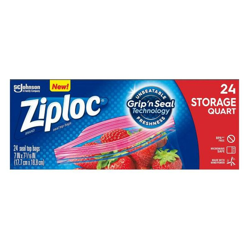 Ziploc Holiday Quart Low Count Storage Bags