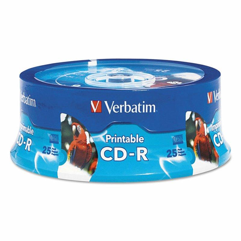 Verbatim Hub Inkjet Printable CD-R Discs