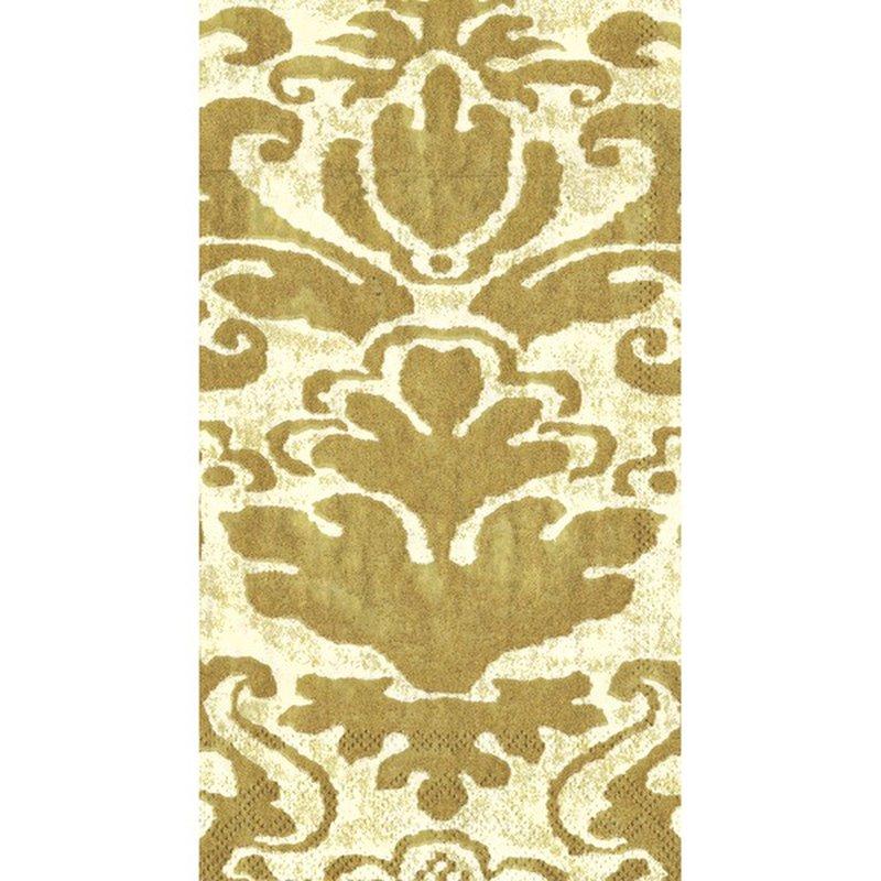Caspari Guest Towel Palazzo Ivory