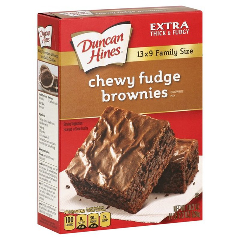 Duncan Hines Brownie Mix, Chewy Fudge, Family Size