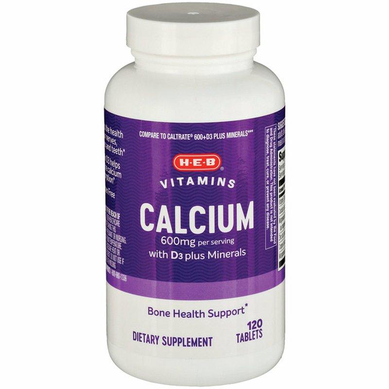 H-E-B Calcium With Vitamin D-3 and Minerals Vitamin Supp