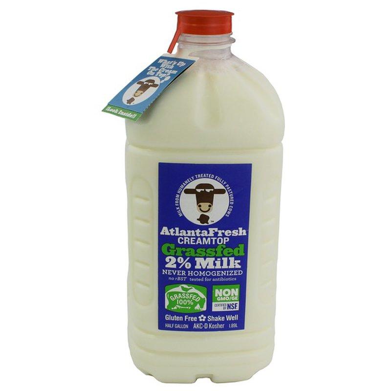 Atlantafresh Creamtop Grassfed 2% Milk
