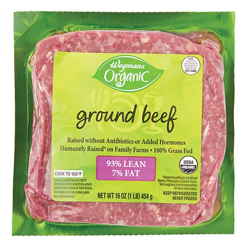 Wegmans Organic 93/7 Grass Fed Ground Beef