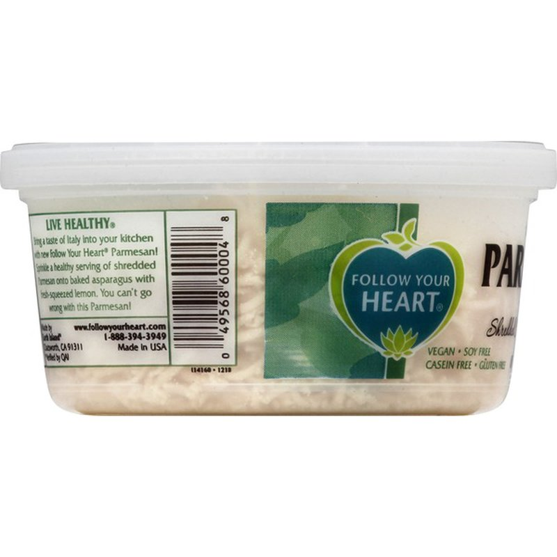 Follow Your Heart Shredded Cheese Alternative, Dairy-Free, Parmesan Style