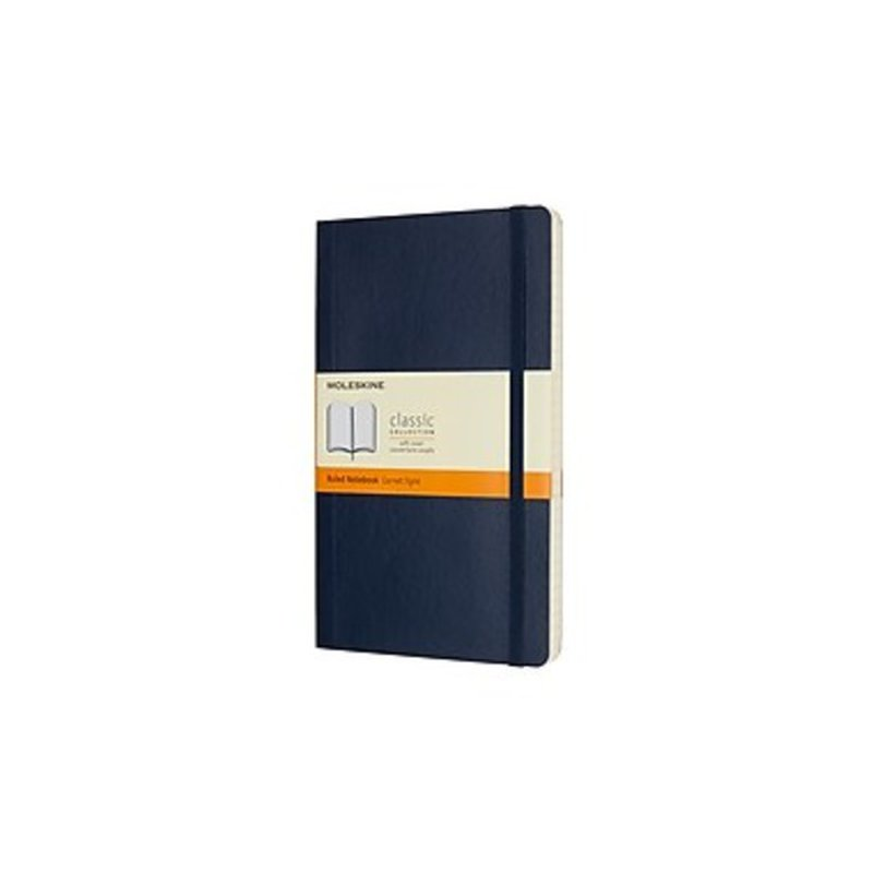 Moleskine Sapphire Blue Soft Cover Large Ruled Notebook