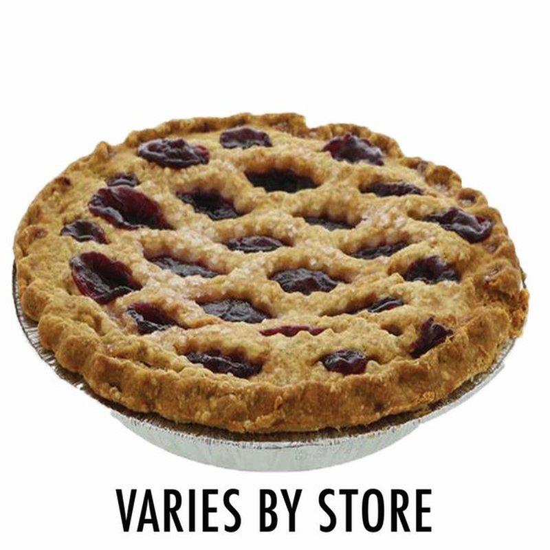 8 Lattice Blueberry Pie