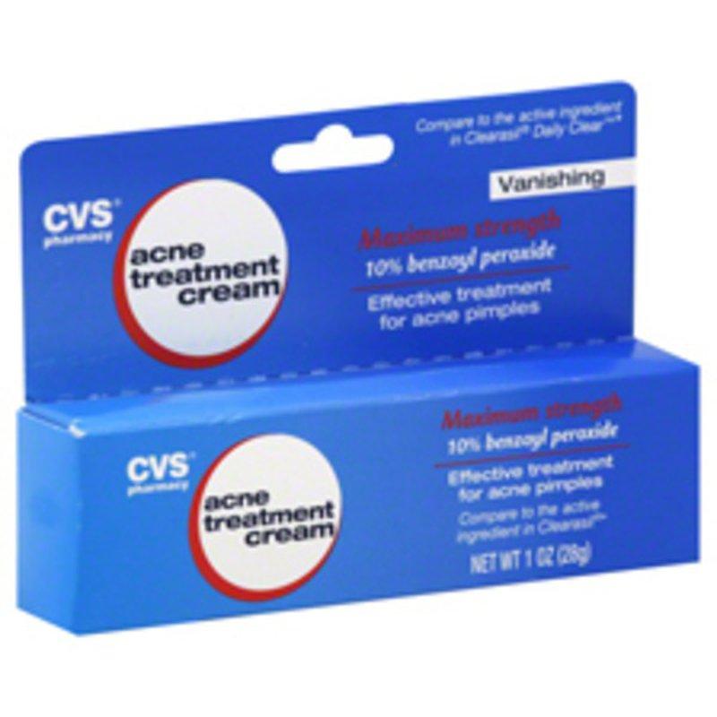 Cvs Acne Treatment Cream Maximum Strength 10 Benzoyl Peroxide 1