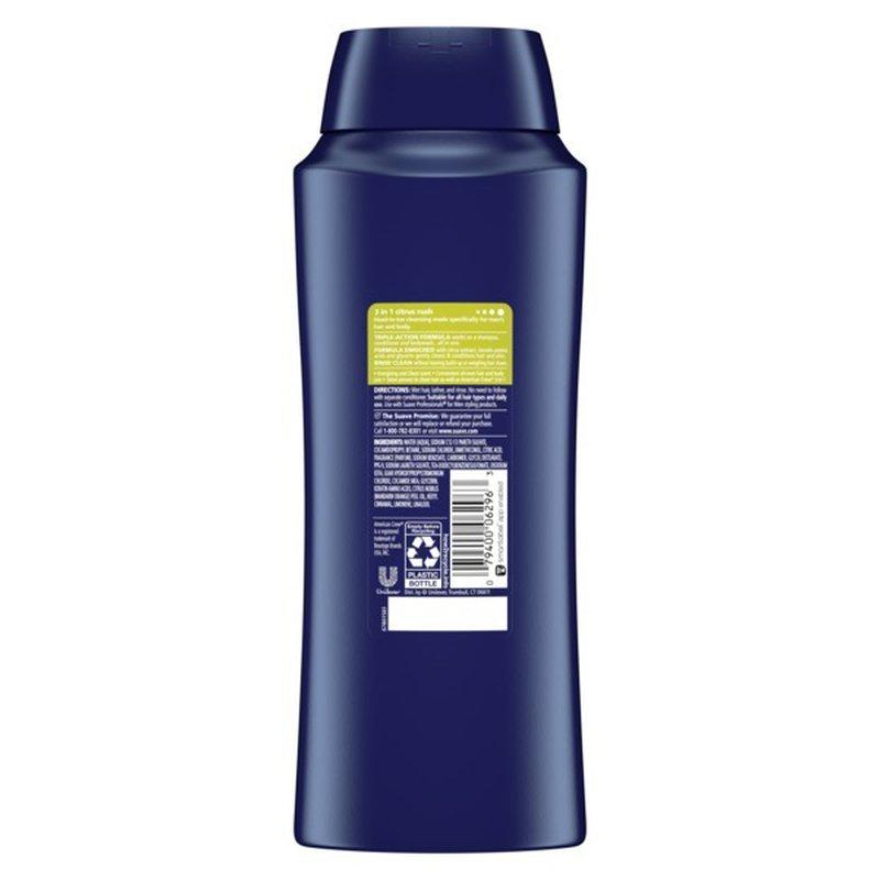Suave 3-in-1 Shampoo Conditioner Body Wash Citrus Rush