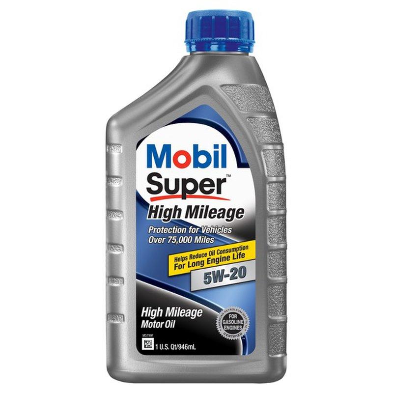 Mobil Super 5 W 20 High Mileage Motor Oil
