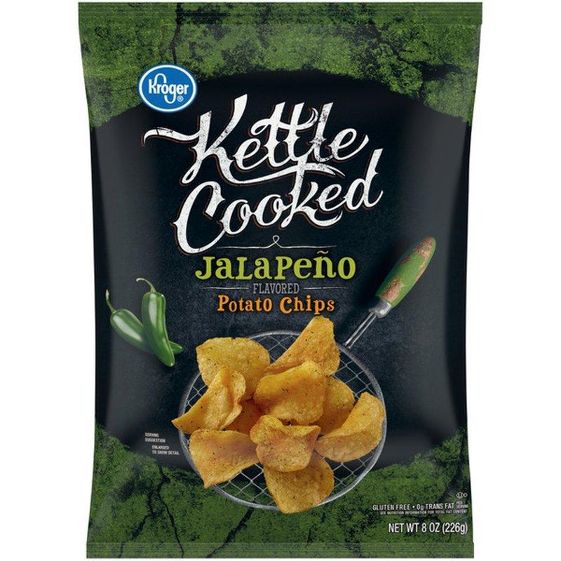 Kroger Kettle Cooked Jalapeno Potato Chips