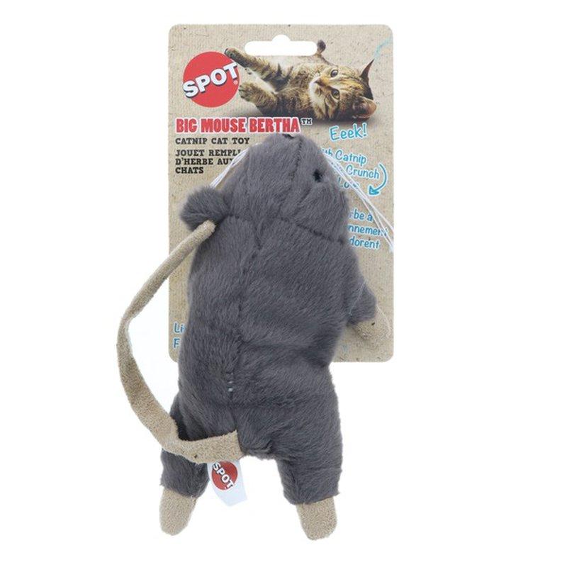 SPOT Big Mouse Bertha Assorted Catnip Cat Toy
