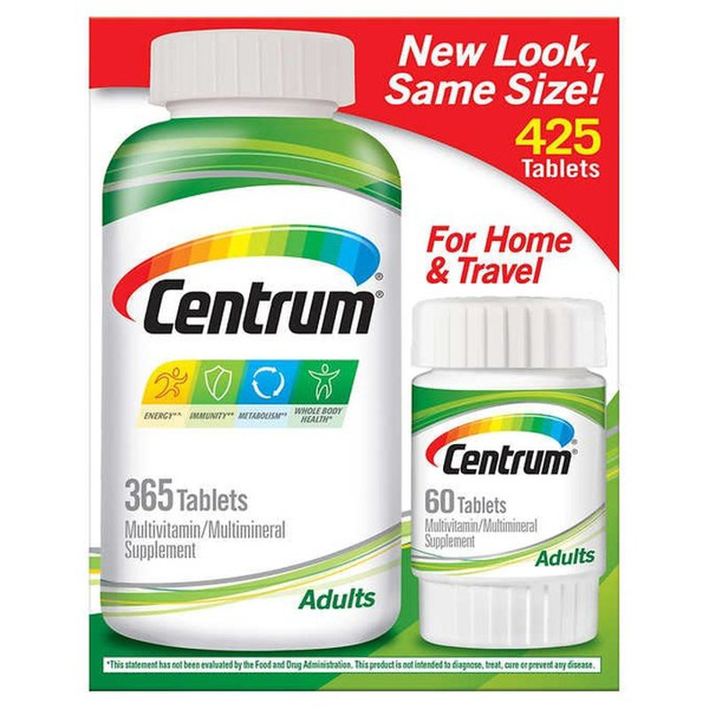 Centrum Adult Complete Multivitamin Multimineral Supplement Tablets 425 Ct Instacart