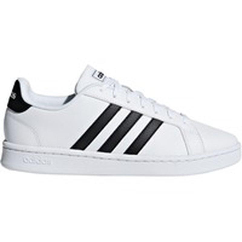 adidas Women's Grand Court Shoes - White/Black - 6.0 - Medium/B (6 ...