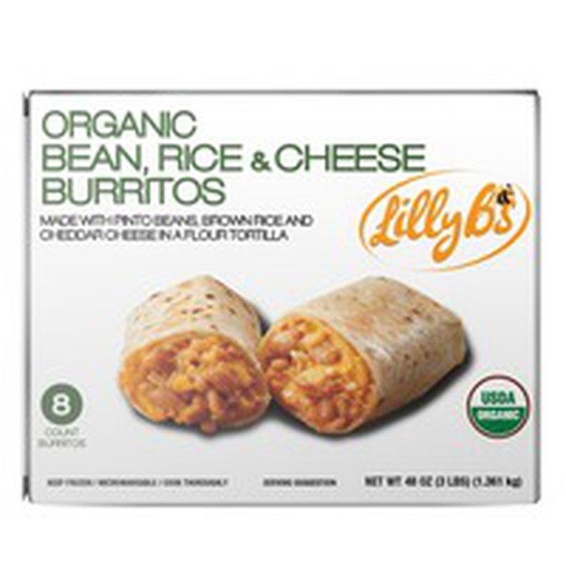 Lilly B's Organic Beans Rice & Cheese Burritos