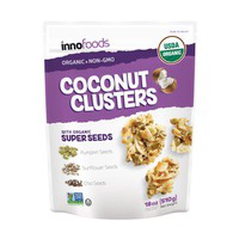 Inno Foods Organic Coconut Clusters, 18 oz