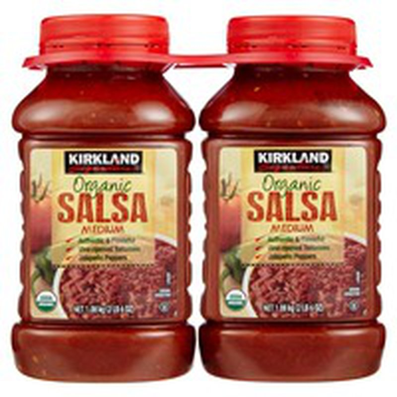 Kirkland Signature Organic Medium Salsa, 2 x 38 oz