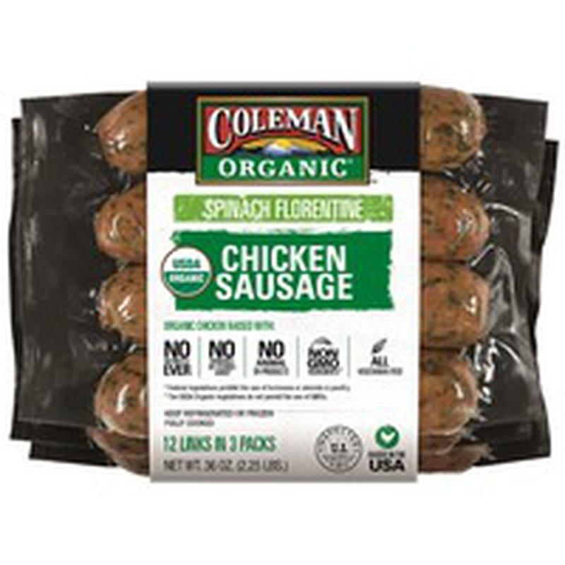 Coleman Organic Chicken Sausage