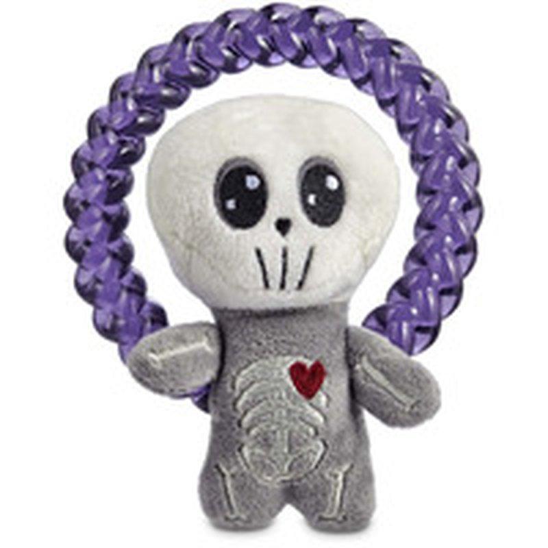 Small Halloween Skeleton Ring Dog Toy