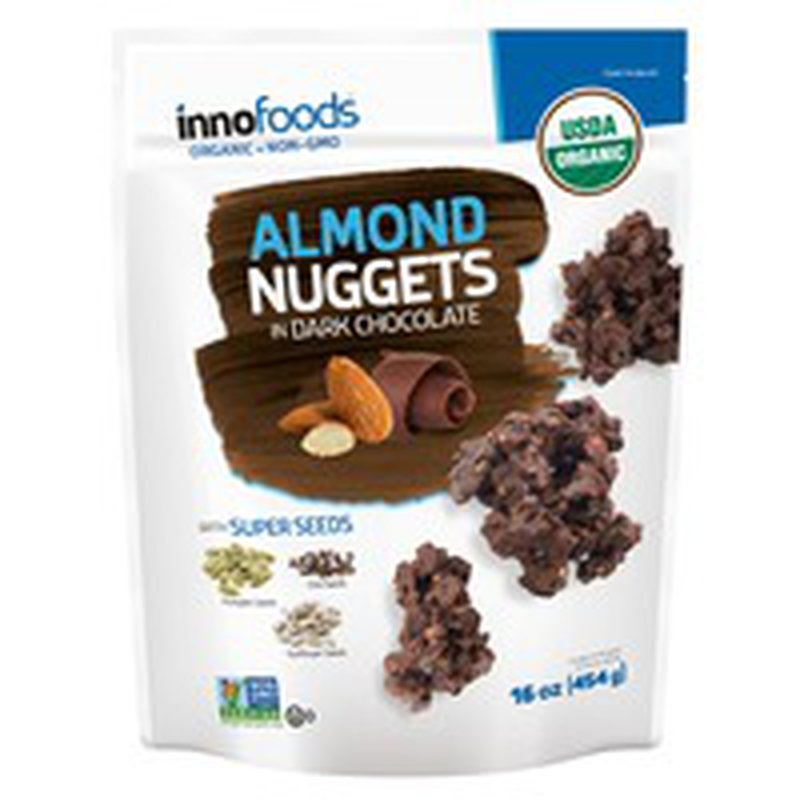 inno foods Almond Nuggets In Dark Chocolate