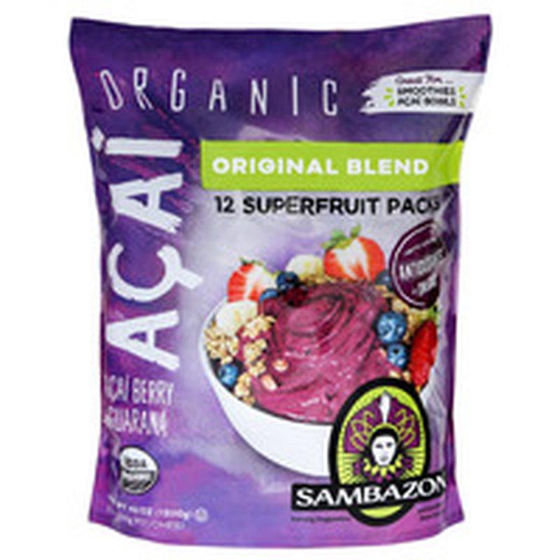 Sambazon Organic Acai Smoothie Pack