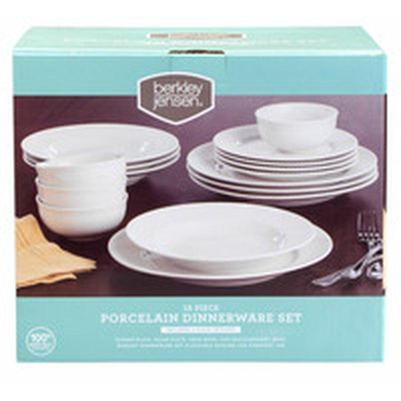Berkley Jensen 16-Piece Porcelain Dinnerware Set