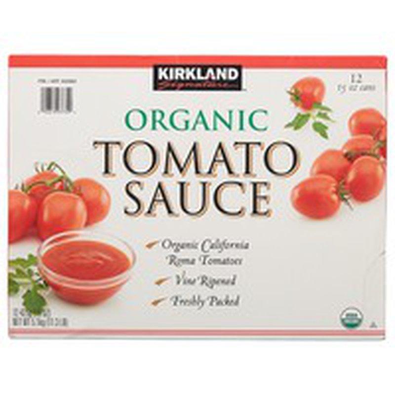 Kirkland Signature Organic Tomato Sauce, 12 x 15 oz