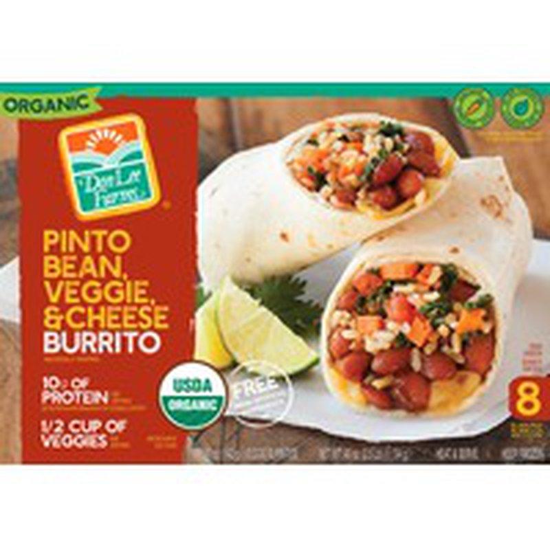 Don Lee Farms T5h7 Pinto Bean, Veggie & Cheese Burrito