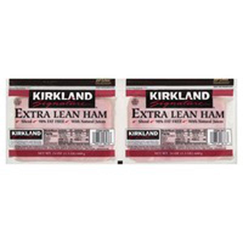 Kirkland Signature 4 x 6 Sliced Ham, 2 x 24 oz