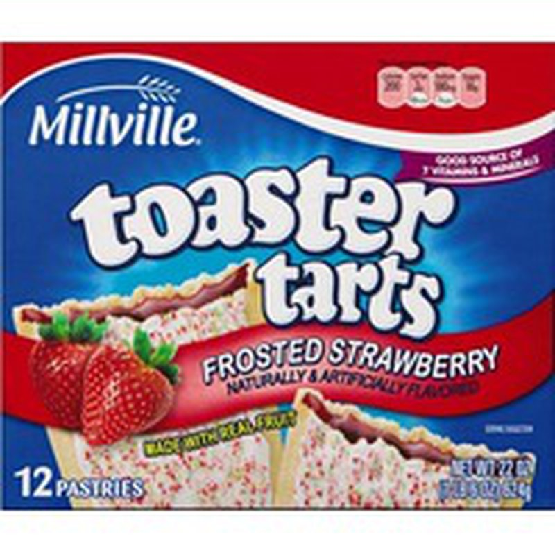Millville Frosted Strawberry Flavored Toaster Tarts