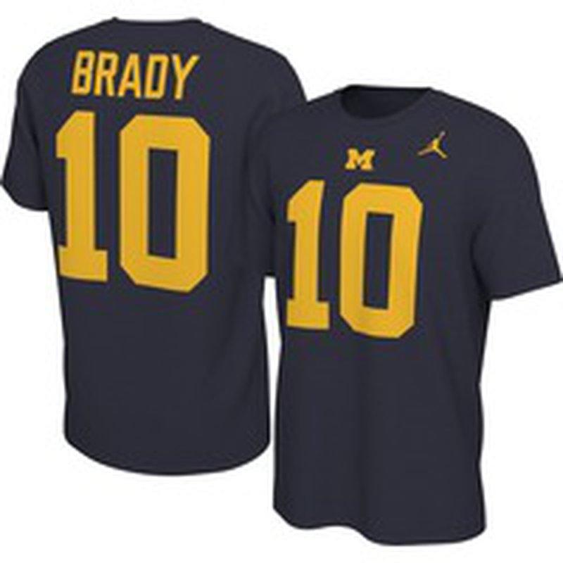 Jordan Men's Michigan Wolverines Tom Brady #10 Football Jersey T ...
