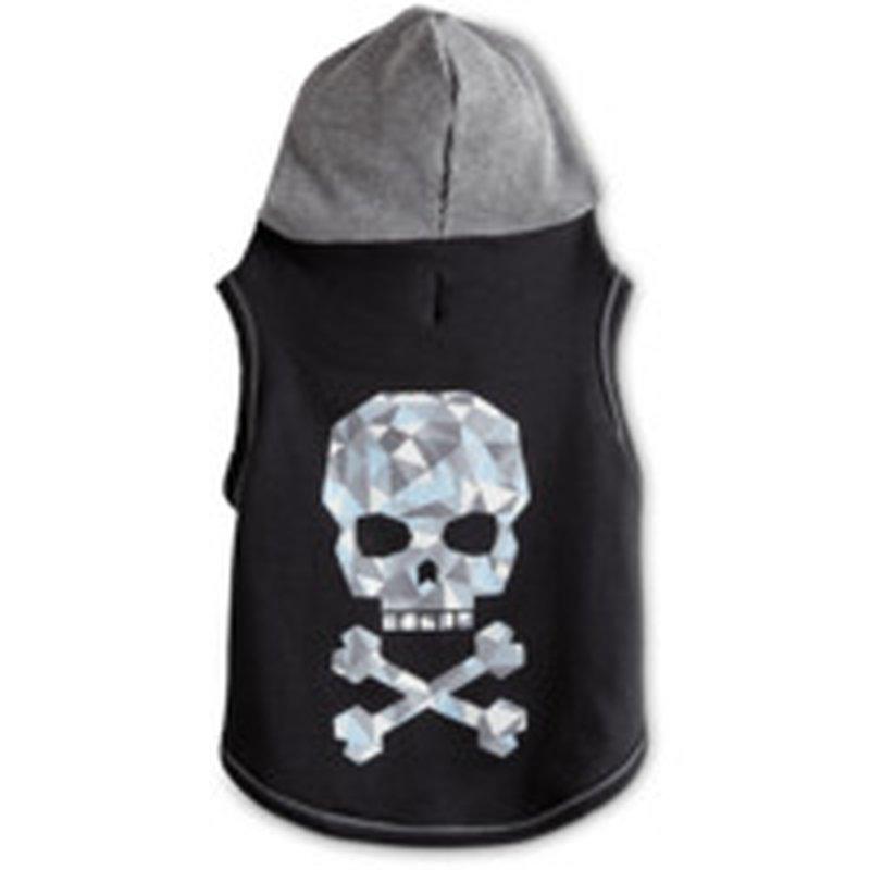 Bond & Co Medium Black & Gray Skull Hooded Cat Harness