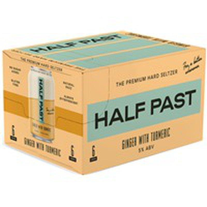 Half Past Ginger With Turmeric Hard Seltzer Cans