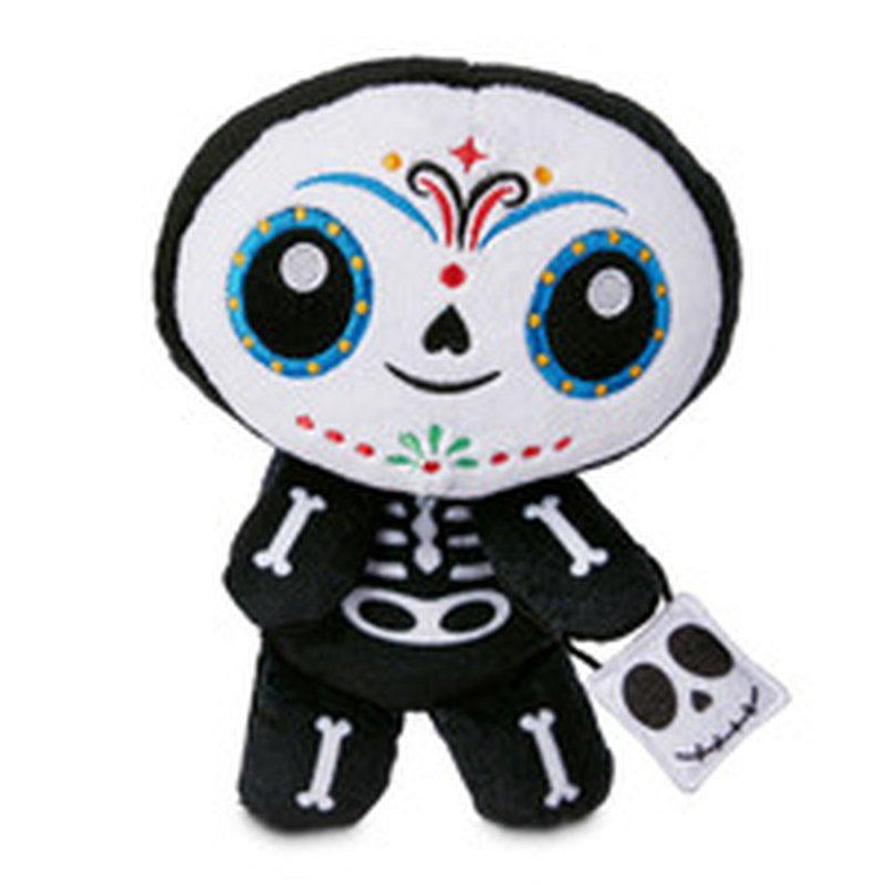 "9"" Halloween Skeleton Flattie Dog Toy"