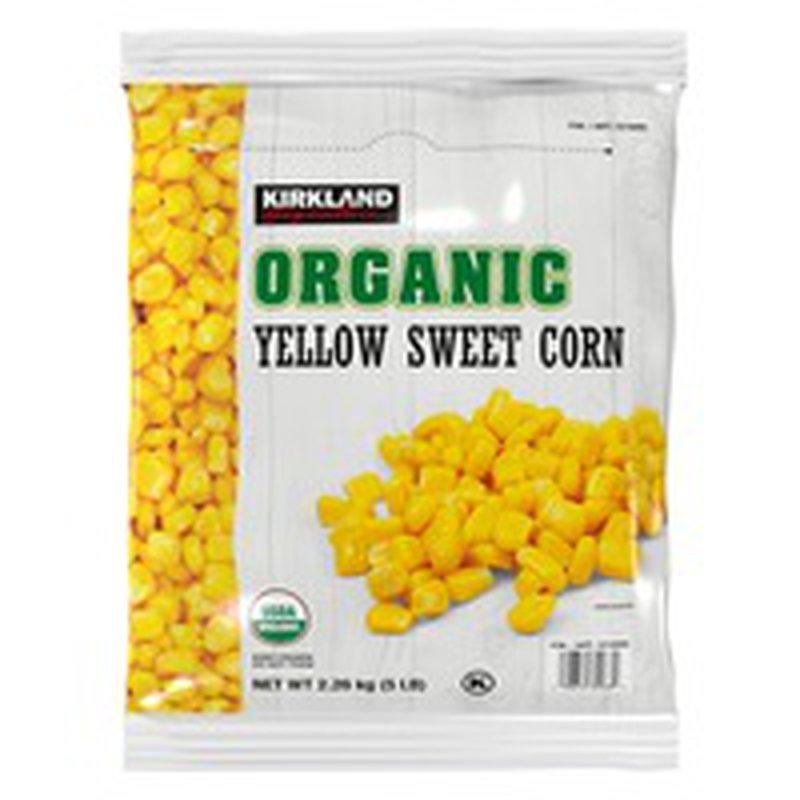 Kirkland Signature Organic Yellow Sweet Corn, 5 lbs