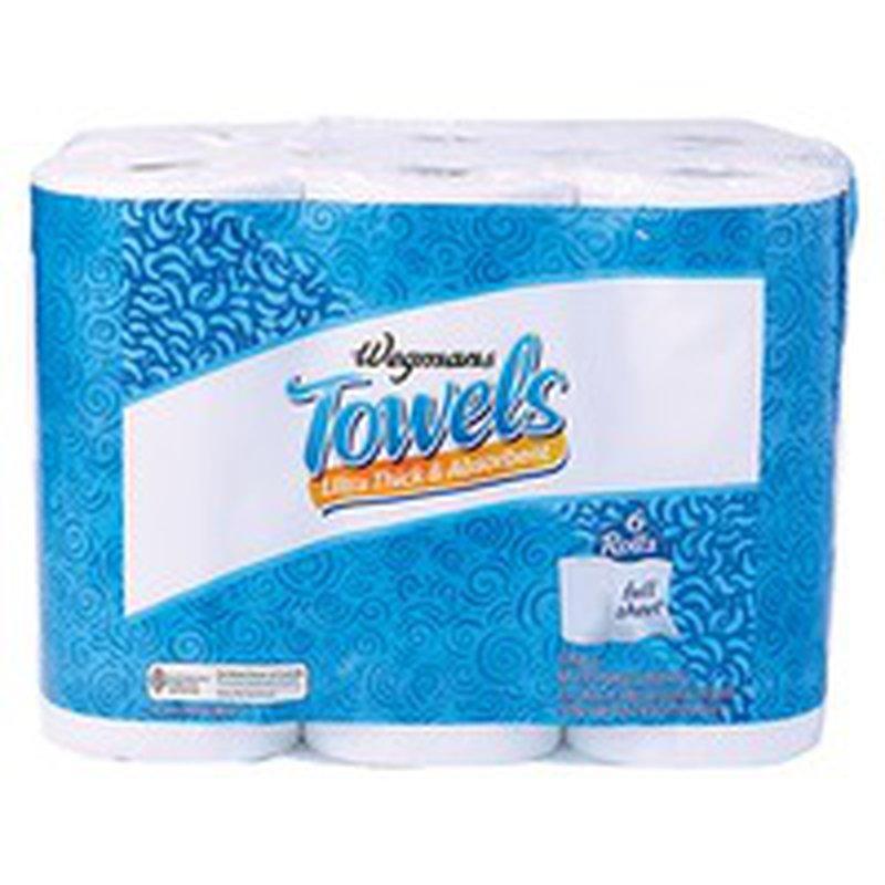 Wegmans Ultra Thick & Absorbent Paper Towels