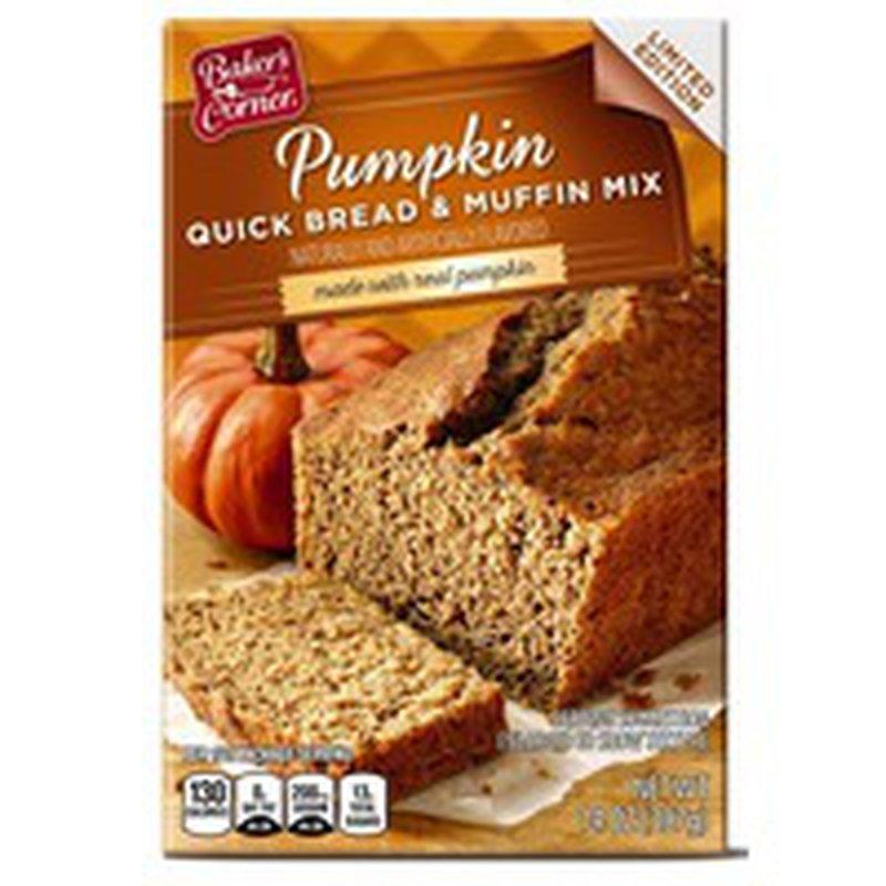 Baker's Corner Pumpkin Flavored Quick Bread & Muffin Mix