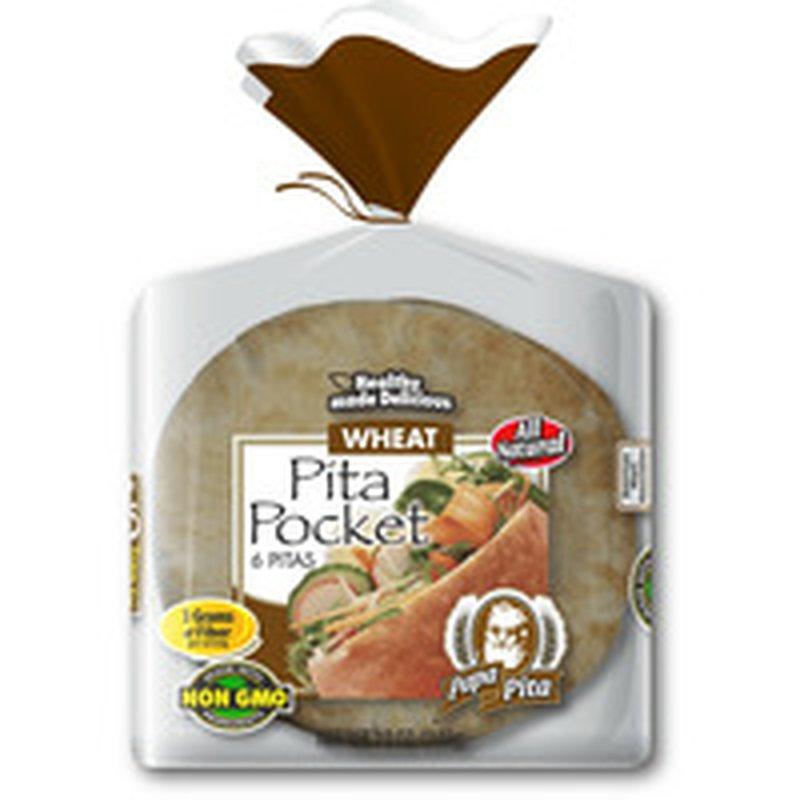 Papa Pita Whole Wheat Greek Pockets Pita Bread