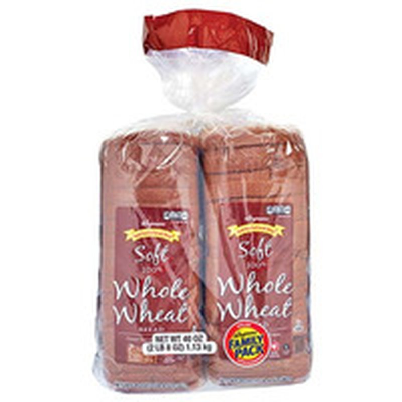 Wegmans Food You Feel Good About Soft 100% Whole Wheat Bread, FAMILY PACK