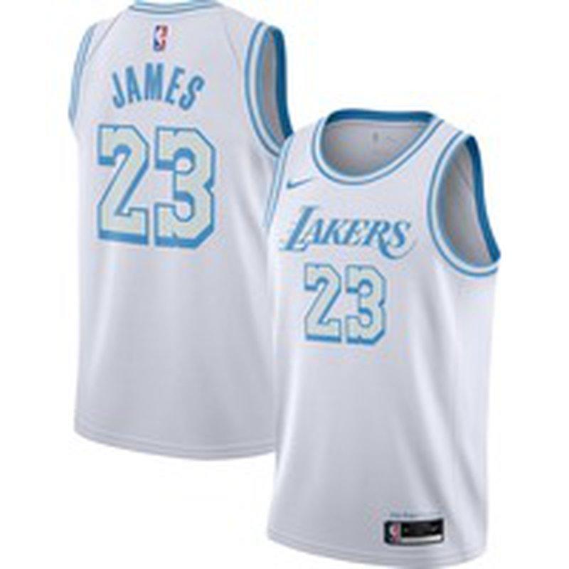 Nike Men's 2020-21 City Edition Los Angeles Lakers LeBron James ...