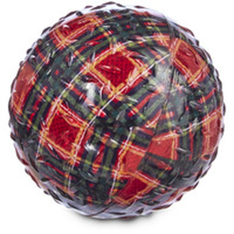 Tpr Small Holiday Ball Print Dog Toy