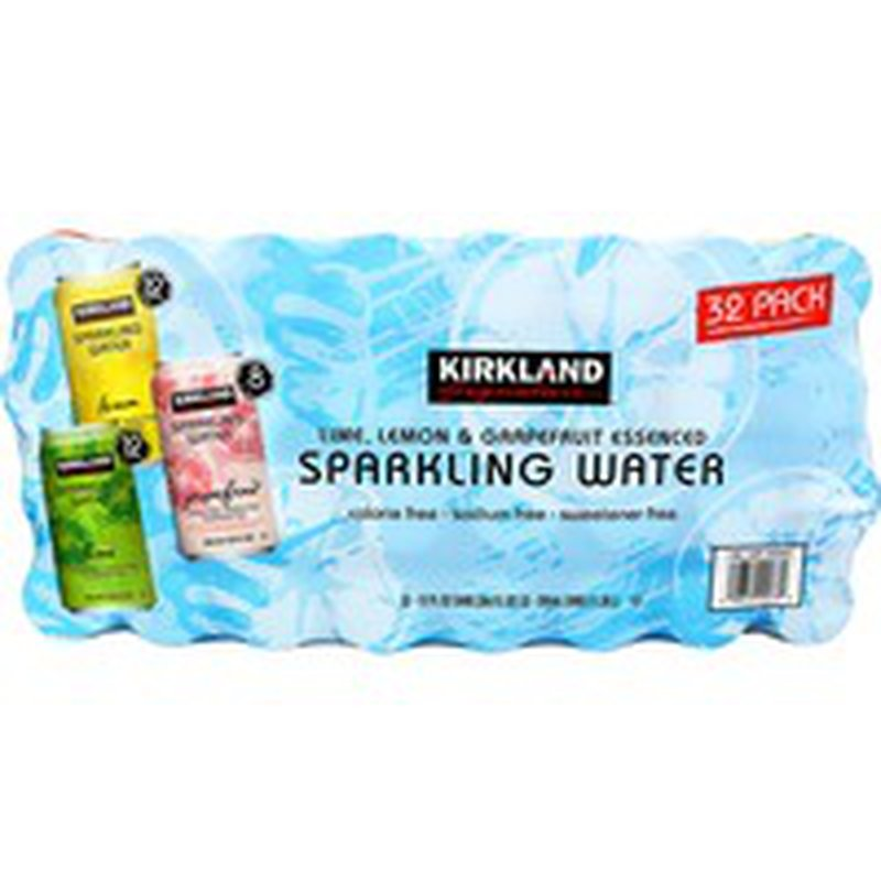 Kirkland Signature Sparkling Water cans, 32 x 12 fl oz