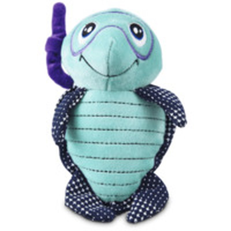 Leaps & Bounds Small Turtle Flattie Dog Toy