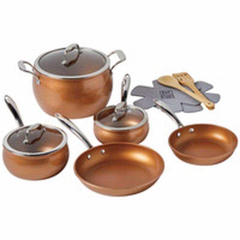 Kitchen Table 12 Piece Copper Cookware Set Each Instacart