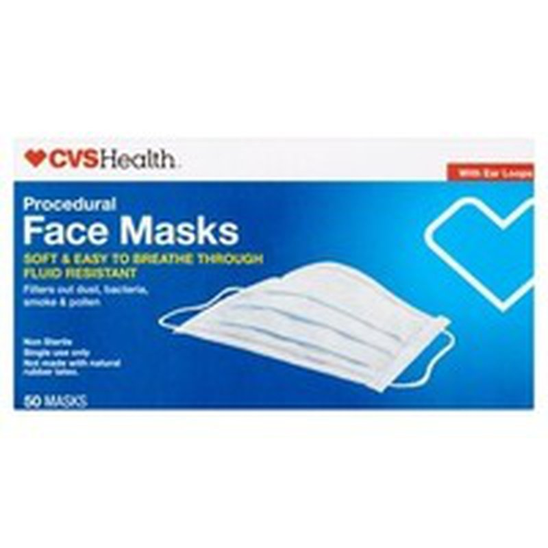 CVS Procedural Face Masks With Earloops