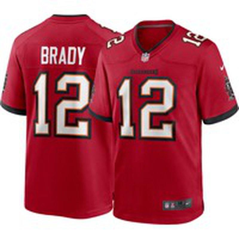 Nike Men's Tampa Bay Buccaneers Tom Brady #12 Home Red Game Jersey ...