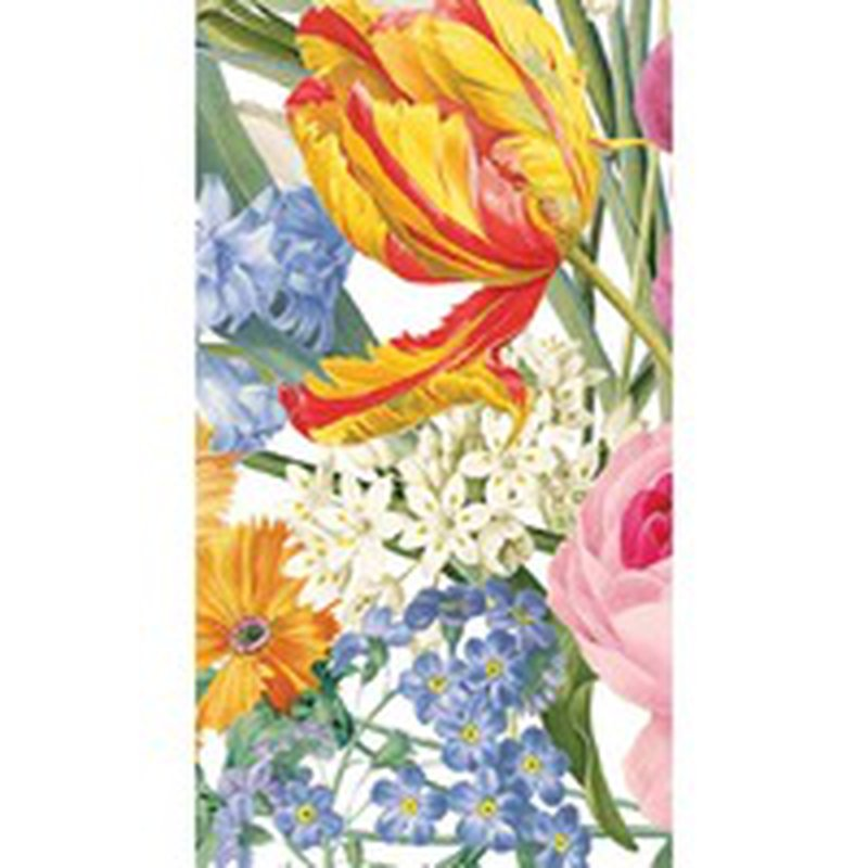 Caspari Redoute Floral Ivory Guest Towels
