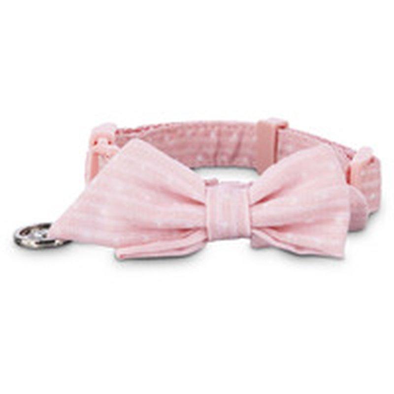 Seas Small Puppy Pink Dot Adjustable Collar