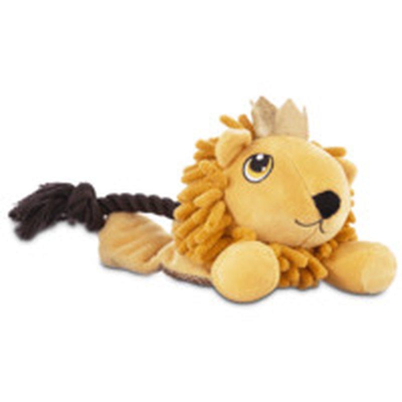 Leaps & Bounds Pets on Safari Lion Flattie Medium Dog Toy
